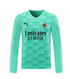 AC Milan gardien de but à manches longues bleu ciel maillot de football maillots de football uniformes 2020-2021
