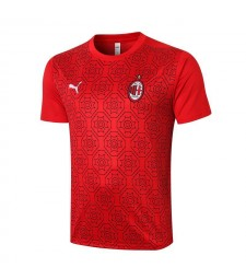 AC Milan formation à manches courtes maillot de football rouge maillot de football uniformes 2020-2021
