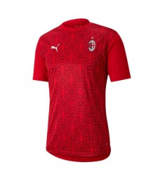 AC Milan entraînement maillot de football rouge maillots de football uniformes 2020-2021