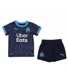 Olympique de Marseille Kids Childs Young Kit Away Soccer Jersey Football Vêtements Uniforme 2020-2021