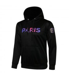 Jordan Paris Saint-Germain Noir Soccer Hoodie Football Survêtement Uniformes 2021-2022