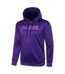 Jordan Paris Saint-Germain Bleu Soccer Hoodie Football Survêtement Uniformes 2021-2022