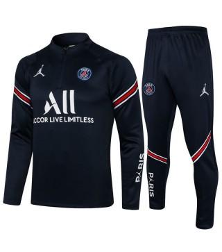 Jordan Paris Saint-Germain Royal Blue Soccer Survêtement Football Uniformes 2021-2022
