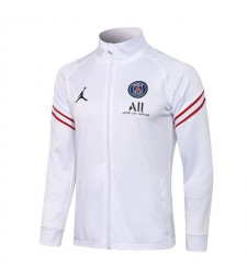 Jordan Paris Saint-Germain Blanc Pantalon De Veste De Football Pour Hommes Uniformes De Survêtement De Football 2021-2022