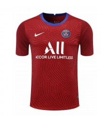 Paris Saint-Germain Gardien de but rouge Maillot de football Maillots de football Uniformes 2020-2021