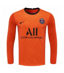 Paris Saint-Germain Orange à manches longues gardien de but maillot de football maillots de football uniformes 2020-2021