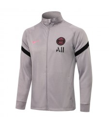 Paris Saint-Germain Veste de football gris clair pour homme Uniformes de survêtement de football 2021-2022