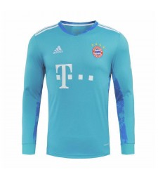Bayern Munich bleu ciel gardien de but à manches longues maillots de football hommes maillots de football uniformes 2020-2021