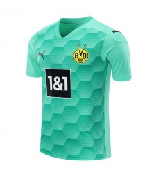 Borussia Dortmund Gardien de but Football Jersey Bleu Ciel Uniformes De Football 2020-2021