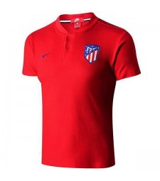 Atletico Madrid Polo Entraînement Football Maillot Soccer Rouge Sportswear T-shirt 2019-2020