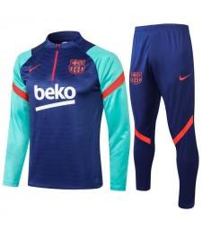 Survêtement de football bleu Barcelone Uniformes de football pour hommes 2021-2022