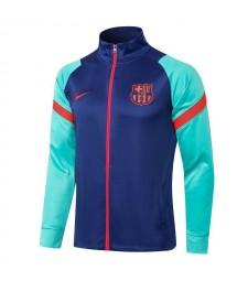 Pantalon de veste de football à col haut bleu Barcelone Uniformes de survêtement de football pour hommes 2021-2022