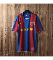 Barcelona Retro Home Soccer Jerseys Maillots de football pour hommes Uniformes 2007-2008