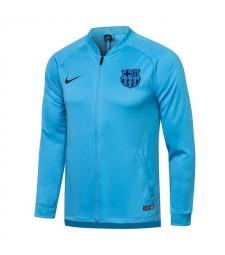 Pantalon de veste de football bleu ciel de Barcelone pour hommes uniformes de survêtement de football 2021-2022