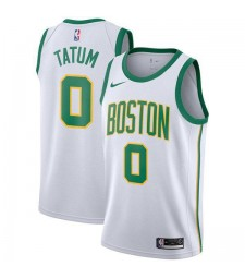 Boston Celtics Jayson Tatum 0# Jersey White 2018/2019