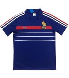France Maillots de football à domicile rétro Maillots de football pour hommes 1984-1986