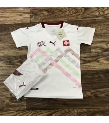 Suisse Away Soccer Jersey Kids Football Kit Youth Uniforms 2020
