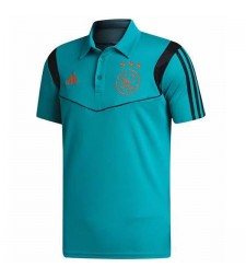 Ajax Mens Football Polo Indigo 2019-2020