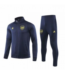 Arsenal Dark Blue Jacket Kit Yellow Logo 2019-2020