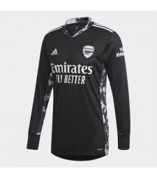 Arsenal gardien de but noir à manches longues maillot de football maillots de football uniformes 2020-2021