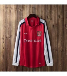 Arsenal Retro Home Maillots de football à manches longues Hommes Maillots de football Uniformes 2000