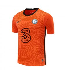 Chelsea Gardien de but Orange Soccer Jersey Football Uniformes 2020-2021