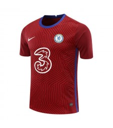 Uniformes de football de football de gardien de but rouge de Chelsea 2020-2021