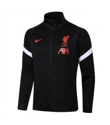 Liverpool Black High Neck Soccer Jacket Uniformes de survêtement de football pour hommes 2021-2022