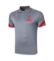 Liverpool Football Football Maillots Football Polo Gris Clair 2020-2021
