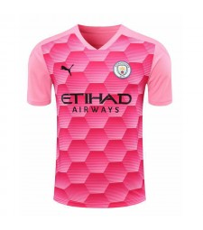 Manchester City Gardien de but rose Maillot de football Maillots de football Uniformes 2020-2021