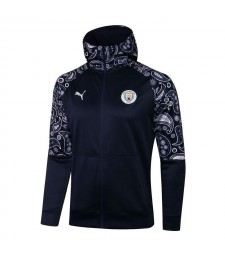 Manchester City Royal Blue Soccer Hoodie Veste Football Survêtement Uniformes 2021-2022