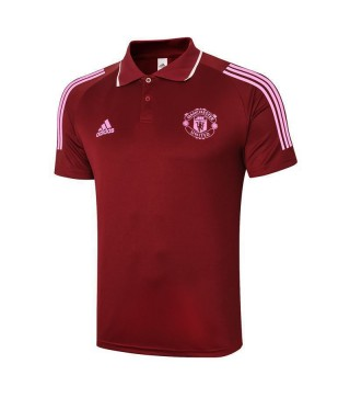 Manchester United Soccer Jersey Claret Football Polo Uniforme 2021-2022