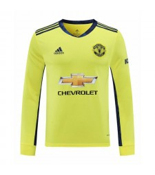 Manchester United jaune à manches longues gardien de but de football maillot de football chemises uniformes 2020-2021