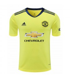 Manchester United jaune gardien de but de football maillot de football chemises uniformes 2020-2021