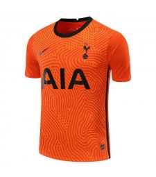 Tottenham Hotspur Gardien de but Orange Soccer Jersey Mens Football Shirt 2020-2021