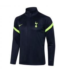 Tottenham Hotspur Veste de football à col haut bleu royal pour hommes Uniformes de survêtement de football 2021-2022