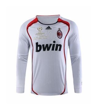Maillots de football rétro AC Milan à manches longues version Ligue des champions 2006-2007