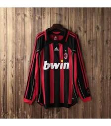 AC Milan rétro manches longues maillots de football à domicile pour hommes maillots de football uniformes 2006