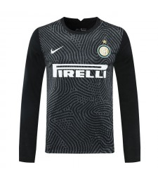Inter Milan noir gardien de but à manches longues maillot de football maillots de football uniformes 2020-2021