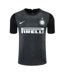 Inter Milan noir gardien de but de football maillot de football maillots uniformes 2020-2021