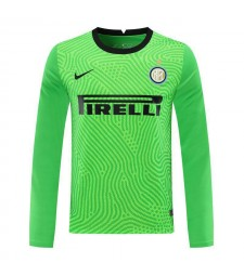 Inter Milan vert gardien de but à manches longues maillot de football maillots de football uniformes 2020-2021