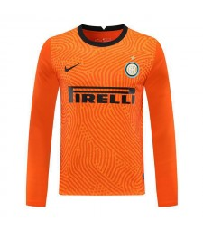 Inter Milan Orange Gardien De But À Manches Longues Maillot De Football Maillots De Football Uniformes 2020-2021