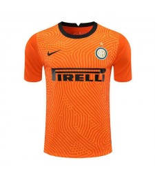 Inter Milan Gardien de but Orange Maillot de football Maillots de football Uniformes 2020-2021