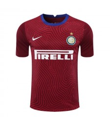 Maillot de football de gardien de but rouge de l'Inter Milan Uniformes 2020-2021