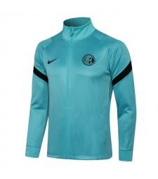 Pantalon de veste de football à col haut bleu Inter Milan Uniformes de survêtement de football pour hommes 2021-2022