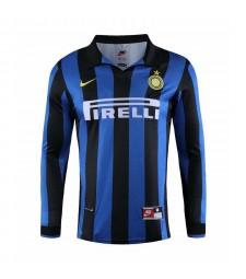 Inter Milan rétro domicile maillots de football à manches longues maillots de football pour hommes 1998