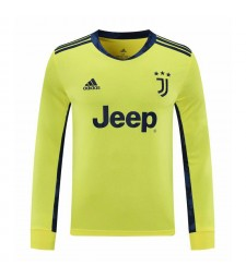 Juventus jaune gardien de but à manches longues maillot de football maillots de football uniformes 2020-2021