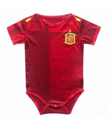 Maillot Espagne Espagne Euro Cup 2020 Baby Onesie